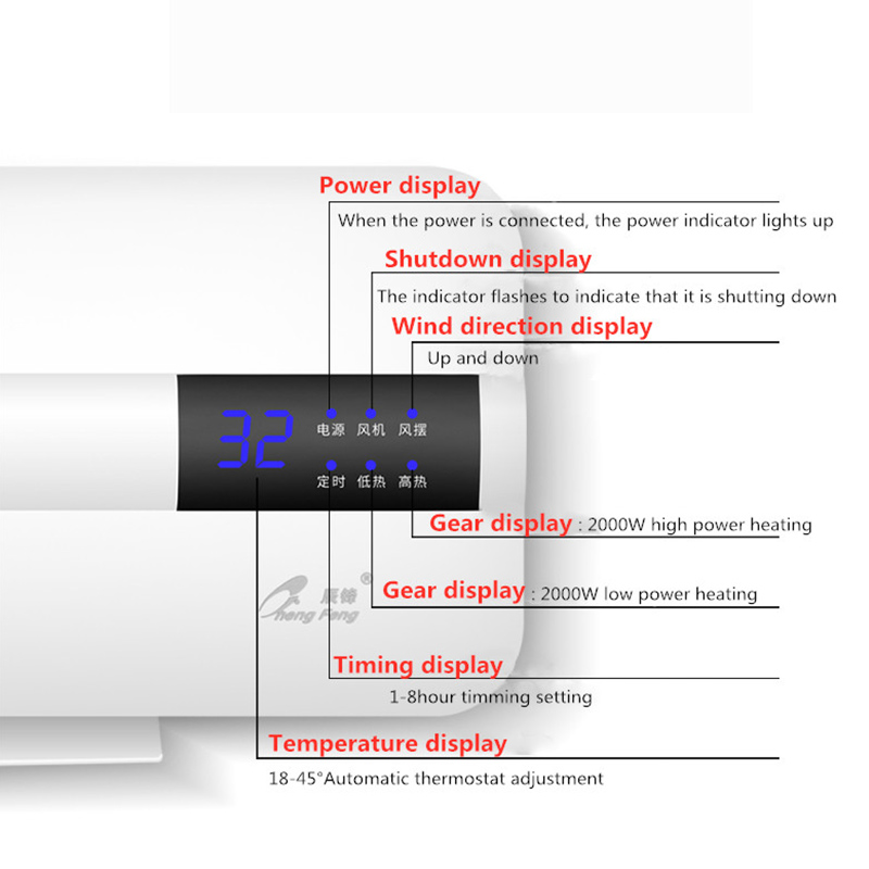 cheapest Household 6500W Electric Water Heater Instant Tankless Water Heater 220V 6 5KW Constant Temperature Display Heating Shower