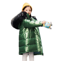 30 degrees winter down jacket 2019 Children girls Clothing kids clothes boys outerwear coats parka real fur ND006