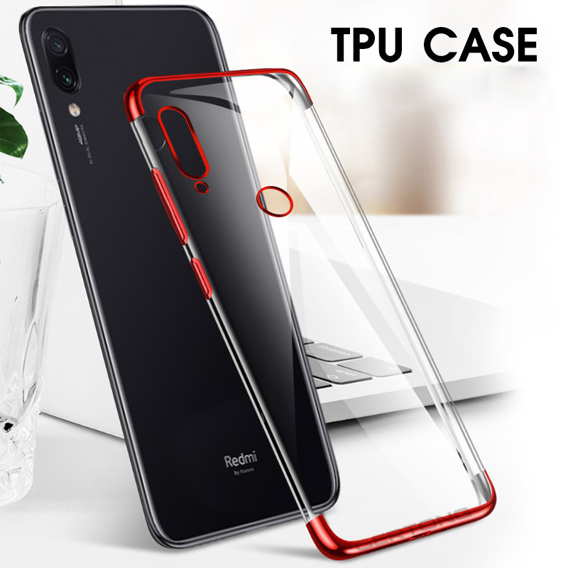 Plating Silicone Case For Xiaomi Mi 9T Pro 9 SE 8 Lite Mi9 Mi8 Phone Cover For Xiaomi Redmi K20 Note 7 8 Pro 7A Transparent Case