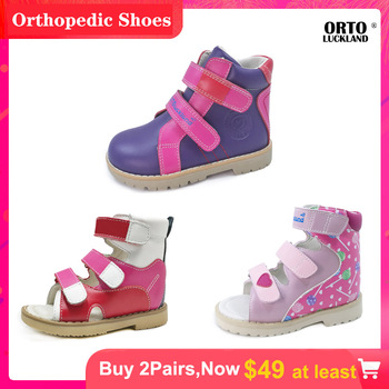 Ortoluckland girls fancy casual shoes orthotic shoes for kids children corrective arch support ankle flatfoot shoes for toddler