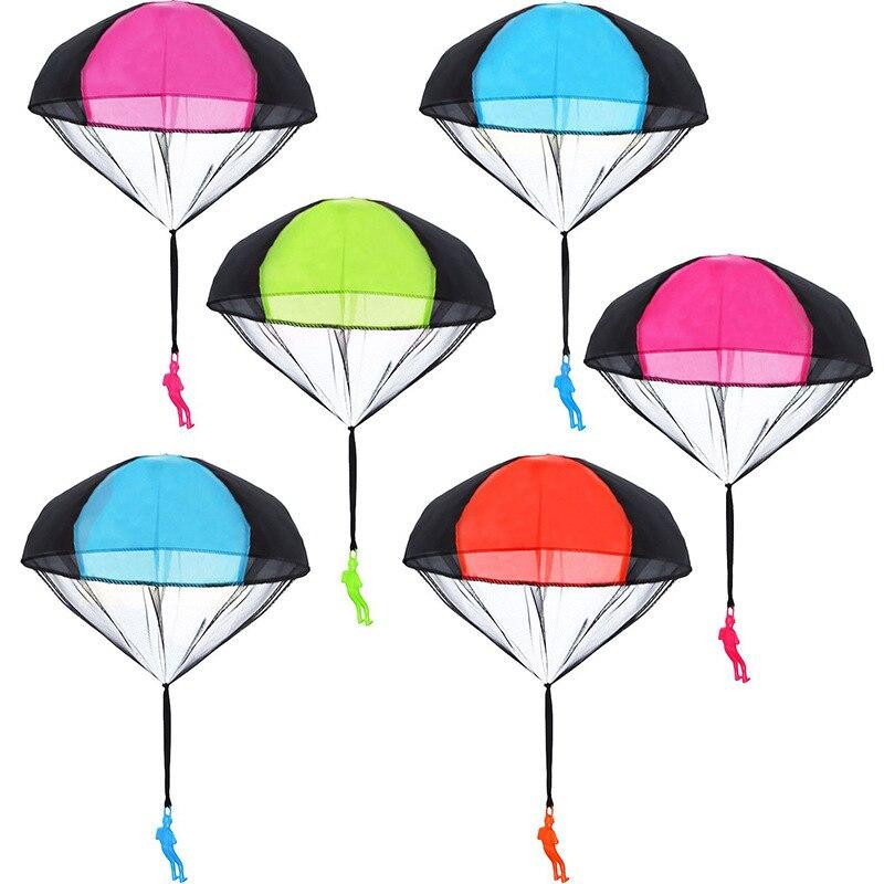 Main jeter Parachute enfants en plein air jouets drôles jeu jouer jouets éducatifs pour enfants voler Parachute Sport Mini soldat jouet
