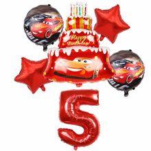 1 conjunto disney carros relâmpago mcqueen 32 Polegada número de alumínio filme balão dos desenhos animados festa aniversário decorações do chuveiro do bebê suprimentos