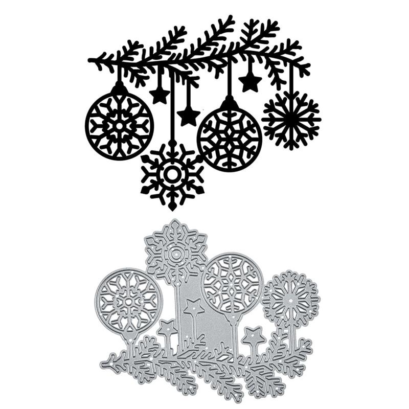 Naifumodo Marry Christmas Decor Dies Metal Cutting Dies 2019 for Card Making Scrapbooking Die Embossing Cuts Stencil Craft Dies