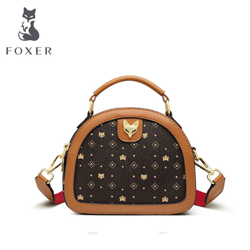 FOXER PVC Material quality women bag fashion tote bag luxury handbags women bags designer bags famous brand women bags 2020 new