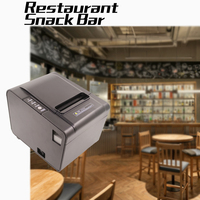 Restaurant Retail Store Receipt Printer for 80mm ticekt bill thermal paper supermarket USB COM/RJ45