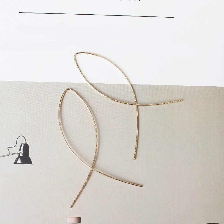 2019 Nuovo Modo Coreano Squisito Pesce Linea Croce Orecchini di Personalità Semplice Acqua di Disegno Linea Orecchio Dei Monili del Commercio All'ingrosso di Vendita