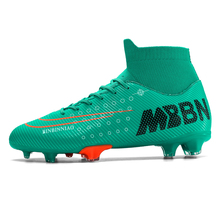 New Soccer Shoes Training Cleats Outdoor Sport Kids Adults Fustal Botas Hombre FG/TF Ankle Sock Botas Cleats Football Boots Men