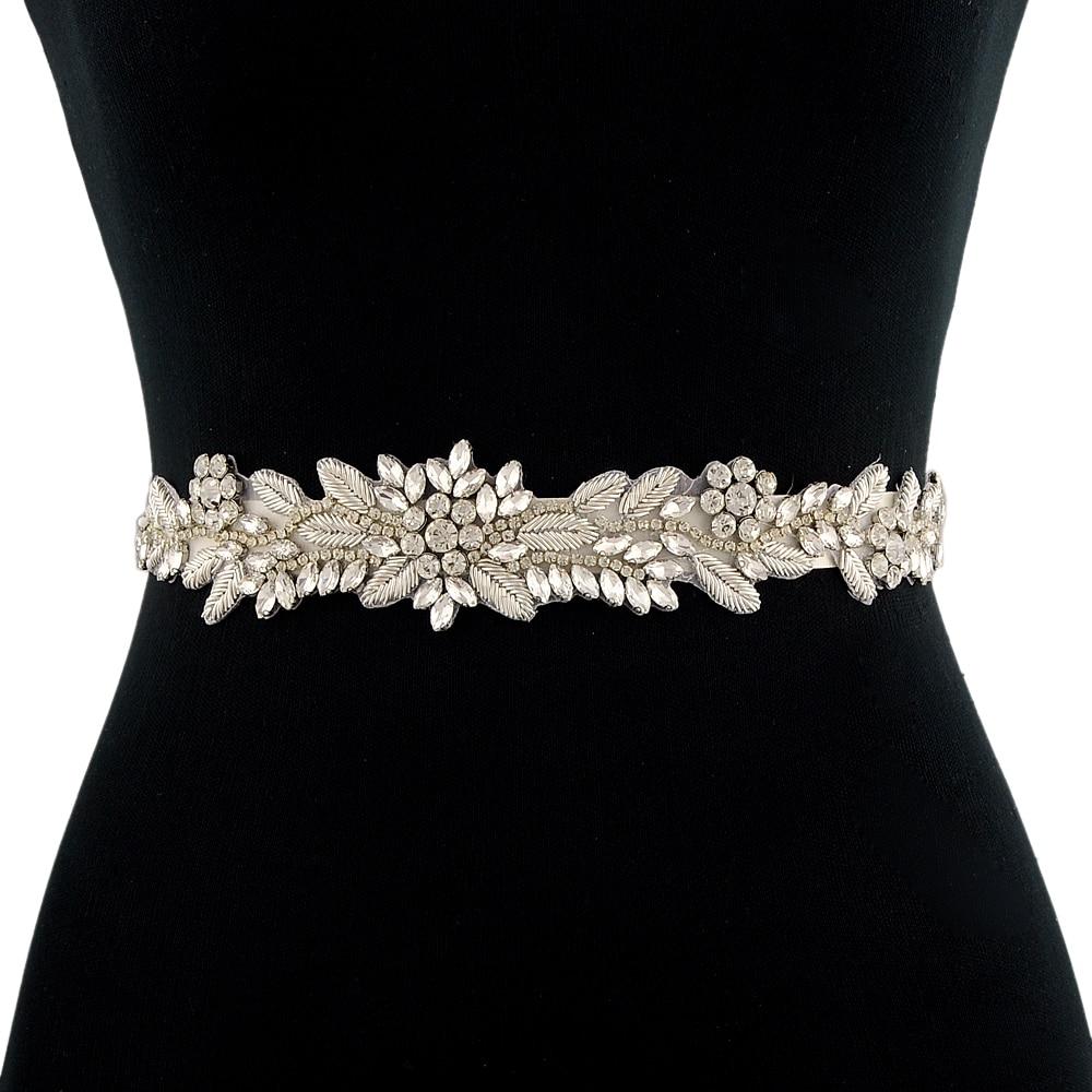 TRiXY S373 Luxury Royal Medal Craft Wedding Belt Sash Bridal Belts Rhinestone Beaded Handmade Bridal Sash Indian silk belt