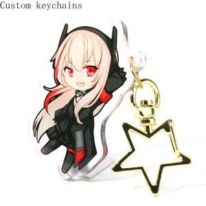 6cm personnalisé clair porte-clés breloque pour sac Anime Victor acrylique mignon porte-clés avec votre n'importe quelle conception
