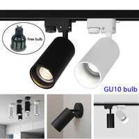 LED Track Light Spot Light GU10 bulb Ceiling Surface Mounted Rail Track Lamp bedroom study Led spotlight Track Lighting for Shop