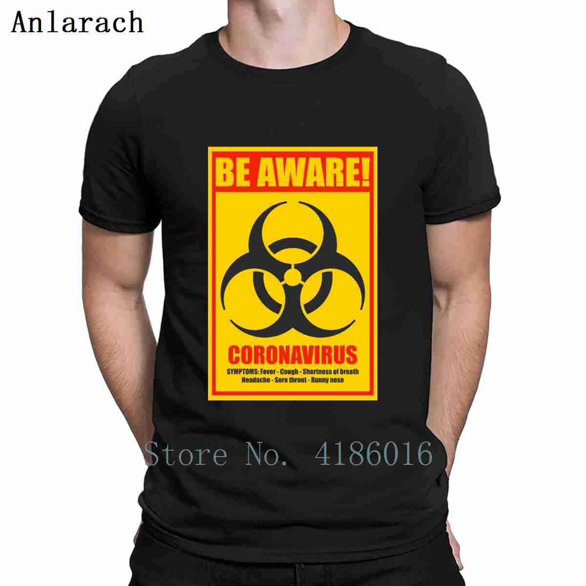 Be Aware Coronavirus Biohazard Warning Sign T Shirt Fitness Spring Short Sleeve S-XXXXXL New Style Leisure Printing Letter Shirt