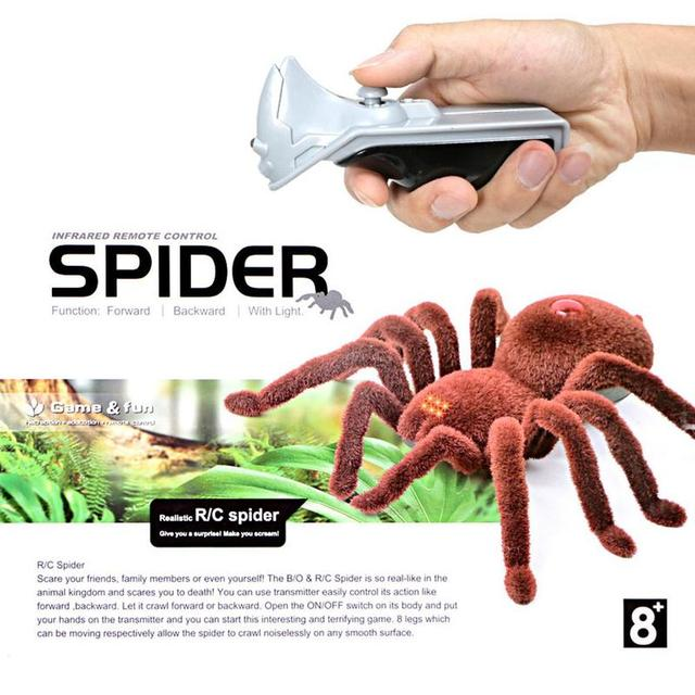 Фото новинка игрушка паук с инфракрасным пультом дистанционного управления цена