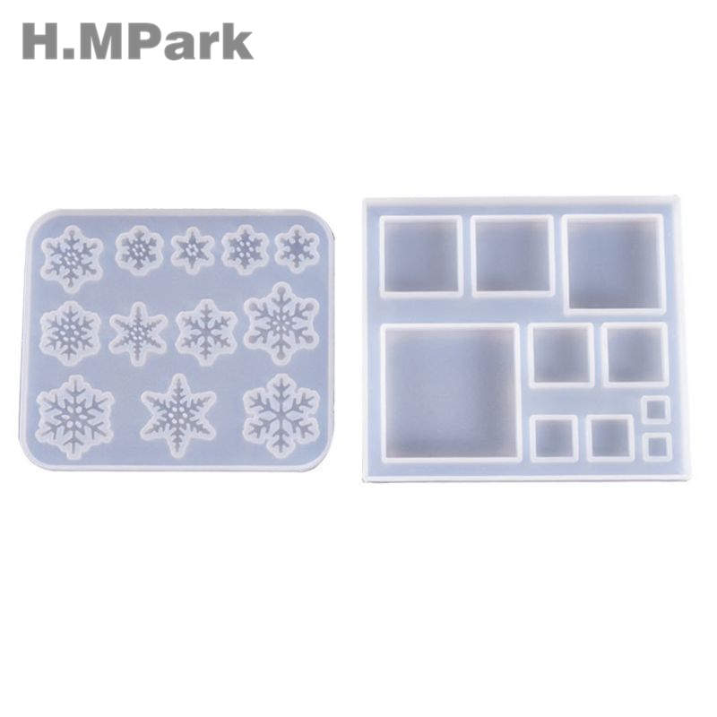 Silicone Molds For Resin Snowflake Square Jewelry Mold DIY Jewellery Making Accessories UV Resin Jewellery Tools