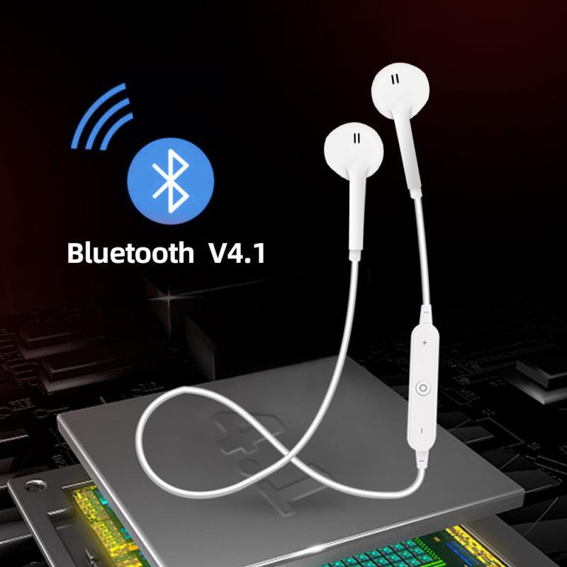 Écouteurs sans fil bluetooth pour iPhone, Samsung, Xiaomi, casque de téléphone, musique, oreillettes stéréo, avec micro, pour sport, S6