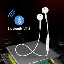 S6 bezprzewodowe słuchawki muzyka zestaw słuchawkowy telefon z pałąkiem na kark sport bluetooth Stereo słuchawki douszne z mikrofonem dla iPhone Samsung Xiaomi
