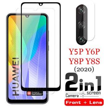Перейти на Алиэкспресс и купить Защитная пленка для объектива камеры 2 в 1, для Huawei Y5p Y6p Y7p Y6s Y8s, закаленное стекло, защитная пленка для экрана для Huwei Y 5p 6p 7p 8s