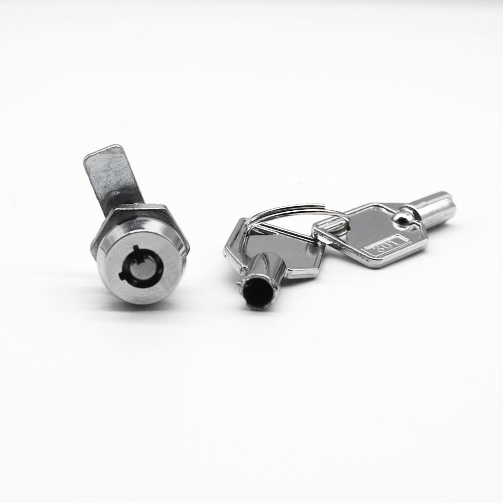 Zinc Alloy Cam Cylinder Locks Tool Door Cabinet Mailbox Drawer Cupboard Locker Security Home Locks Furniture Hardware