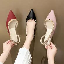 Women's Shoes New Fashion Casual Point Toe Buckle Strap Square Heel Med Female Sexy rivet Party High Heels Pumps Square Heels new europe popular street beat rivet shoes high heeled catwalk sexy rome ankle buckle strap pu heel 12cm woman pumps 6368w