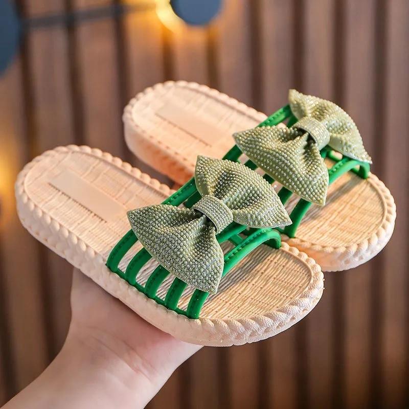 New Girls Sandals Gladiator Bow Sweet Children's Beach Shoes Kids Summer Sandals Princess Fashion Cute High Quality Dropship