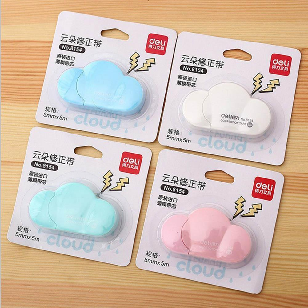 Vividcraft Creative 1 Pc Deco Tape Cloud Shaped Correction Tape 5mmx5m Escolar School Concealer Tape Corretivo Colors 4 Car M4K2