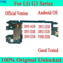 100% Original unlocked for LG G3 D855 D852 D851 D850 VS985 Motherboard for LG G3 Logic Boards with Android System 16gb / 32gb(China)