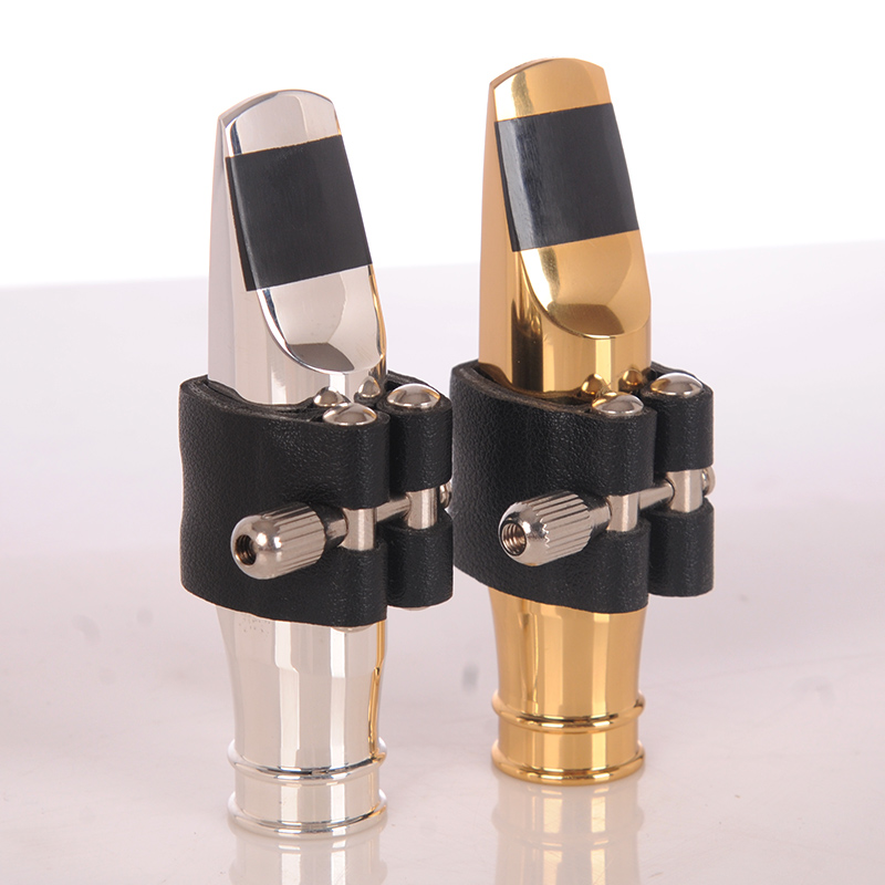 JM Professional Tenor Soprano Alto Saxophone Metal Mouthpiece Silver Plated Mouthpiece Sax Mouth Pieces Size 56789