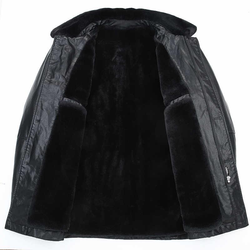 Neue plus size10XL 9XL schaffell mantel männer aus echtem leder herren jacke Hohe qualität Waschbären pelz kragen lokomotive leder jacke