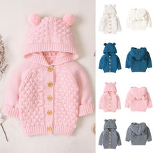 Emmababy Autum Winter Kids Baby Girls Warm Long Sleeve Solid Color Lovely Button