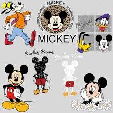 Теплопередающие нашивки «Микки Маус» Disney, «Дональд Дак», наклейка на одежду для детей и взрослых, «сделай сам», мультяшный принт, рождествен...