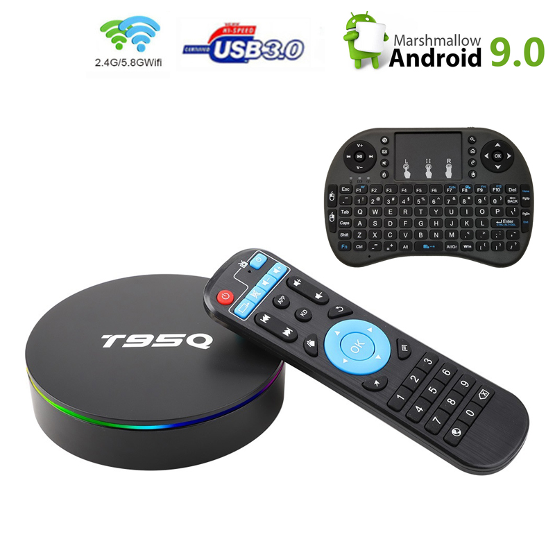 T95Q Android 9,0 Tv Box Amlogic S905X2 Quad Cor 4G 32G 2,4/5,8G Wifi BT4.1 100M 4K Медиаплеер Smart Tv box PK X96Max image
