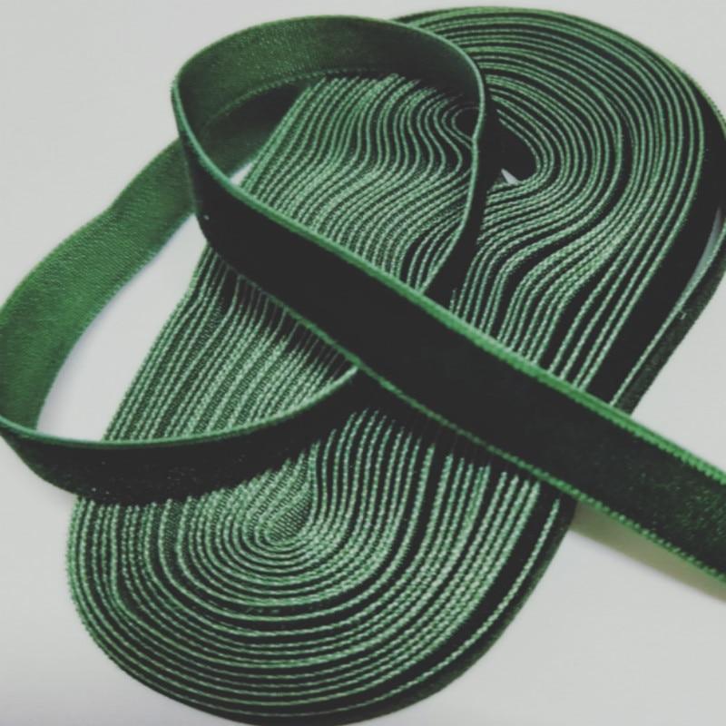 """DIY 5 ярдов 3/"""" 10 мм мягкая удобная бархатная лента много цветов на выбор"""