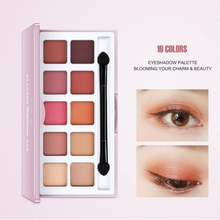 цена на New 10 Colors Shimmer Matte Eyeshadow Palette Waterproof Colorfast Beauty Makeup Cosmetics Eye Shadow maquiagem