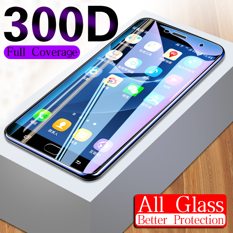 300D Full Cover Protective Glass On The For Samsung Galaxy A3 A5 A7 J3 J5 J7 2016 2017 S7 Tempered Screen Protector Glass Film