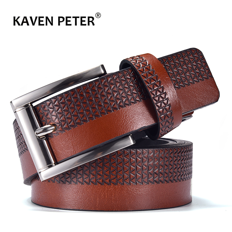Fashion Men Leather Belt  For Jeans Luxury Designer Belts Casual Strap Male Pin Buckle High Quality Brown Black Blue Color