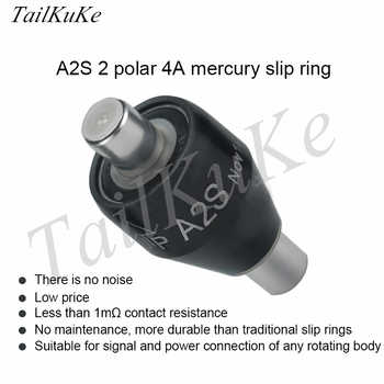 A2S Mercury Conductive Slip Ring, 2 Way 4A Swivel Joint, MERCOTAC, M205 - Category 🛒 Home Appliances