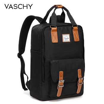 VASCHY Women Backpack School Bags for Girls Travel Bookbag Laptop Mochila Feminine Female