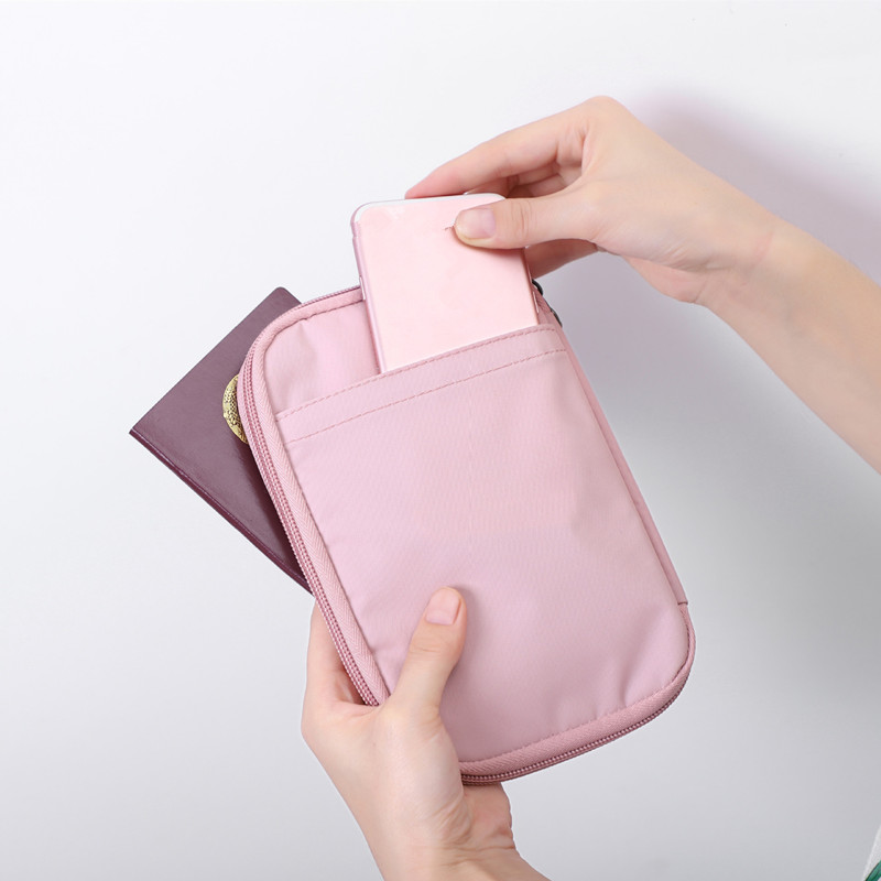 ETya Fashion Women Men Passport Holder Wallet Purse Travel  Charger Data Cable Earphone Money Credit Card Bags Pocket Pouch