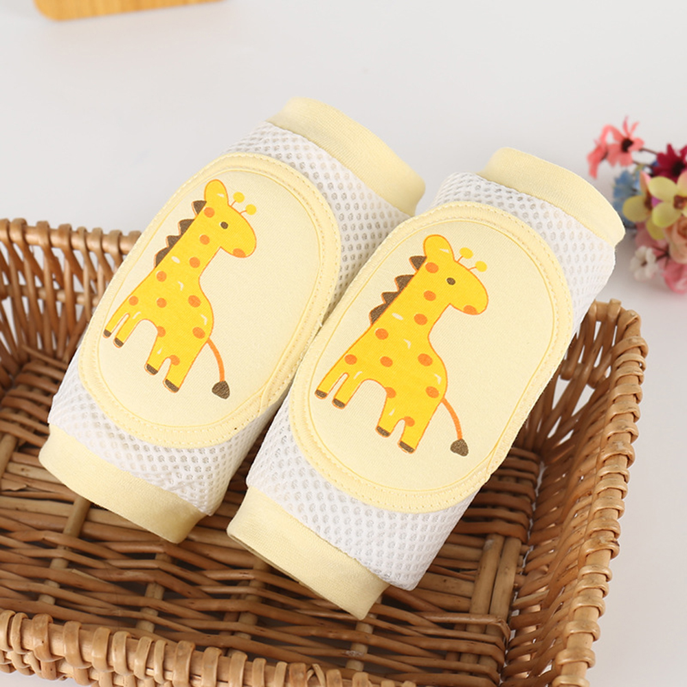 Sell Well Baby Cartoon Animal Mesh Knee Pads High Elastic Silk Knee Pads Elbow Crawl Toddler Anti-fall Protector Children Care