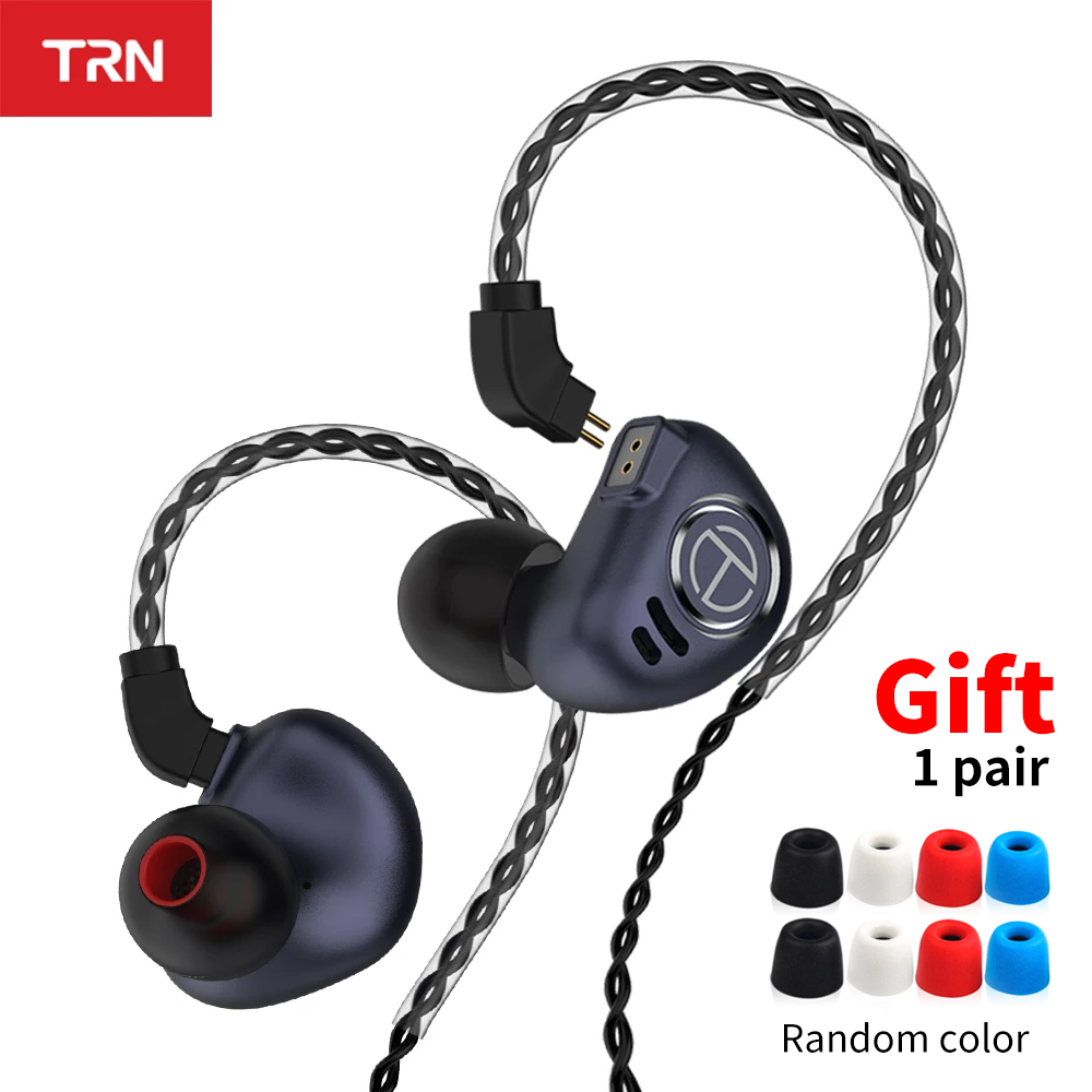 TRN V90 Headphones 4BA 1DD Metal Headset Hybrid Units HIFI Bass Earbuds Monitor Earphones Noise Cancelling TRN M10 VX V80 T2
