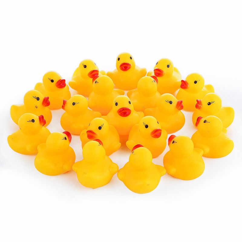 10 pçs/lote bonito do bebê crianças patinhos de borracha squeaky banho brinquedos sala banho água divertido jogo jogar recém-nascidos meninos meninas brinquedos para crianças