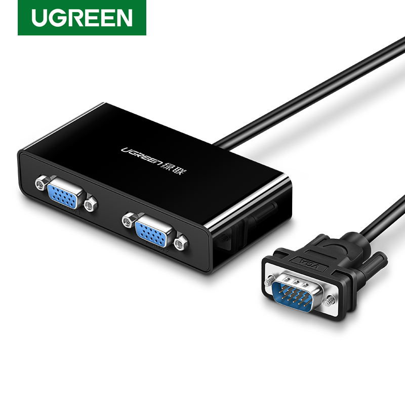 Ugreen VGA Splitter 1080P 2 Port 1 In 2 Out VGA Switch 1X4  Male To Female With Cable For PS4 TV Projector Splitter VGA Adapter