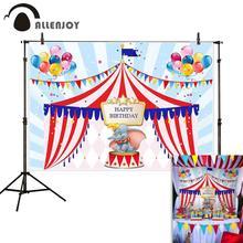 Allenjoy Новые поступления фото фон день рождения цирк Дамбо Золотая рамка воздушный шар фотобудка для фотосессии Студия фотография фон