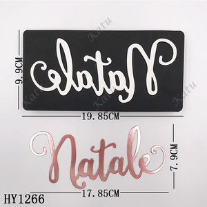 Image 3 - Merry Christmas Letter cutting dies 2019 new die cut &wooden dies Suitable  for common die cutting  machines on the market