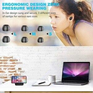 Image 3 - New D2 Wireless Headphones Bluetooth 5.0 Earphone TWS HIFI Mini In ear Sports Running Headset SupportPhones HD Call Game Noise