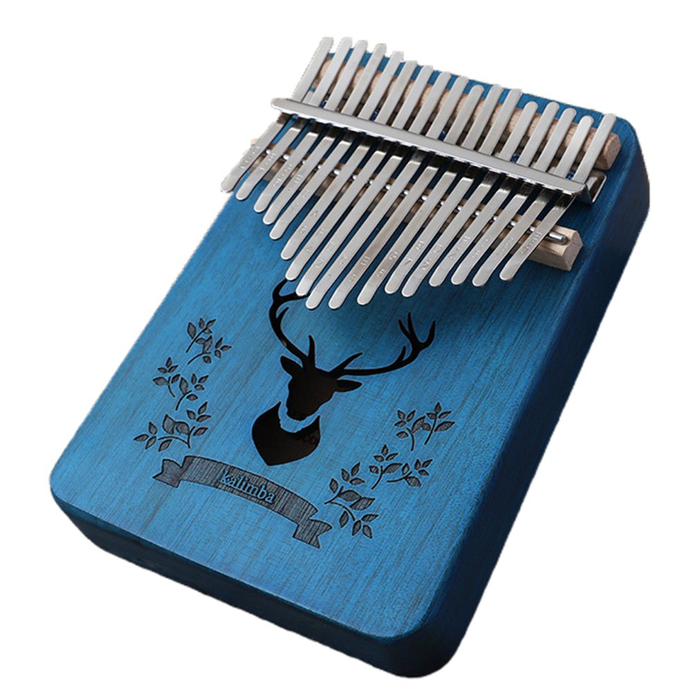 Thumb Piano Kalimba 17 Keys Peach Flower Core Gift Package Clear And Melodious Sound Music Performance Cultivate Music Cells