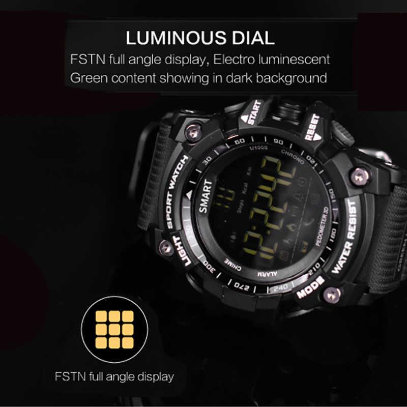 EX16 ساعة ذكية الرياضة عداد الخطى معصمه IP67 مقاوم للماء بلوتوث V4.0 ساعة طويلة الاستعداد التمويه في الهواء الطلق Smartwatch