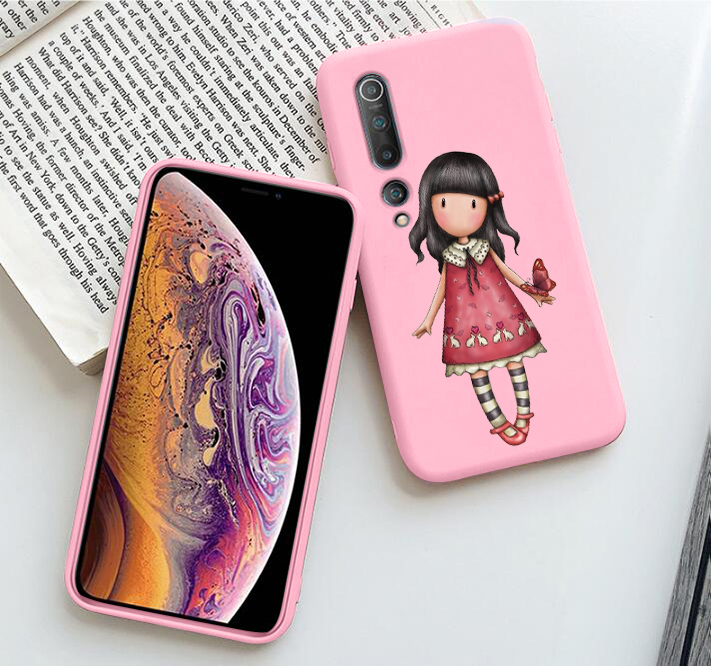 Cartoon Lovely Santoro Gorjuss Black Soft Shell Phone Case For Xiaomi Mi 10 CC9 9 SE 9T Mi9T 8 Lite On Redmi Note 7 8 8T(China)