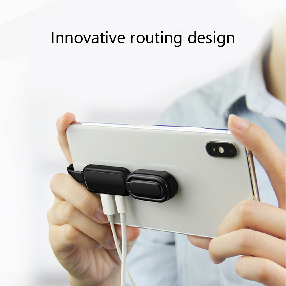 Suction Cup Audio Adapter For Lightning To 3 5mm Adapter With Ring Holder Audio Splitter Fast Charging Adapter For IPhone IOS 13 in Phone Adapters Converters from Cellphones Telecommunications