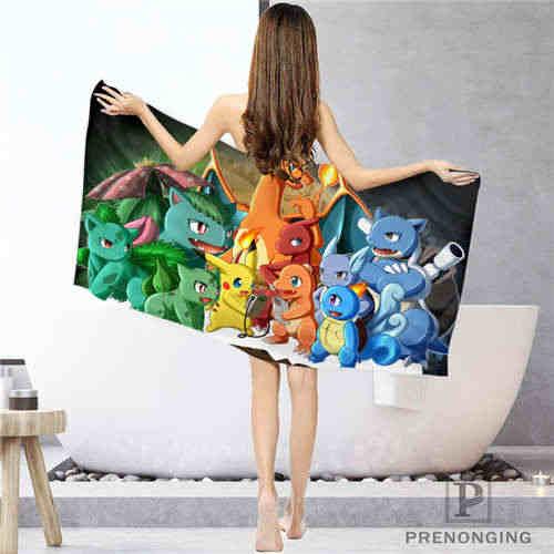 Pokemon_navidad personalizado (1) toallas de baño Toalla de cara/Toalla de baño toallas de ducha tamaño 33x74 cm/72x143 cm 18-12-16-02-170