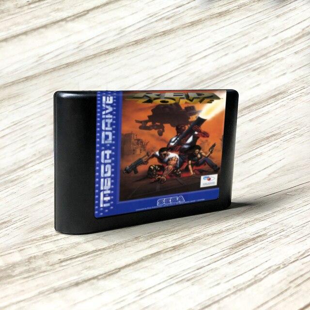 Carte de circuit imprimé pour Console de jeu vidéo Sega Genesis Megadrive, étiquette Red Zone   EUR Flashkit MD Electroless Gold PCB
